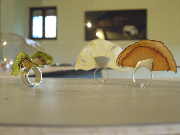 Kika Rufino Desfrute (S-fruttalo) Enjoy it anelli, argento, frutta disidratata rings, silver, dehydrated fruit