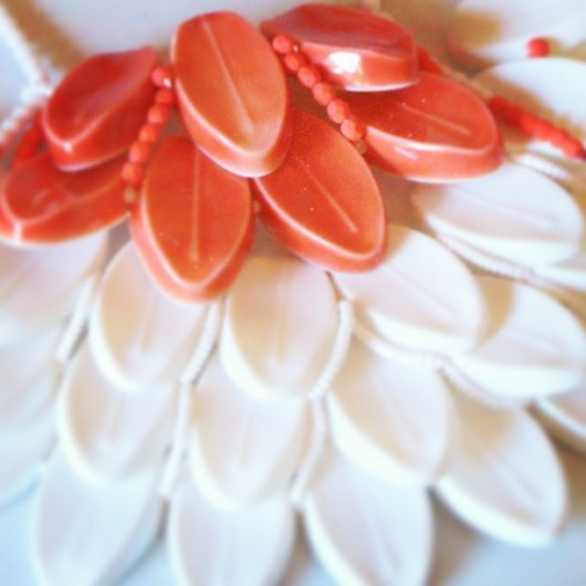EunMi Kwon and her #monblanc #porcelain #necklace for #gioiellinfermento2013 amazing piece of #jewelsinferment #joyeriacontemporanea with #JoyaBarcelona mention