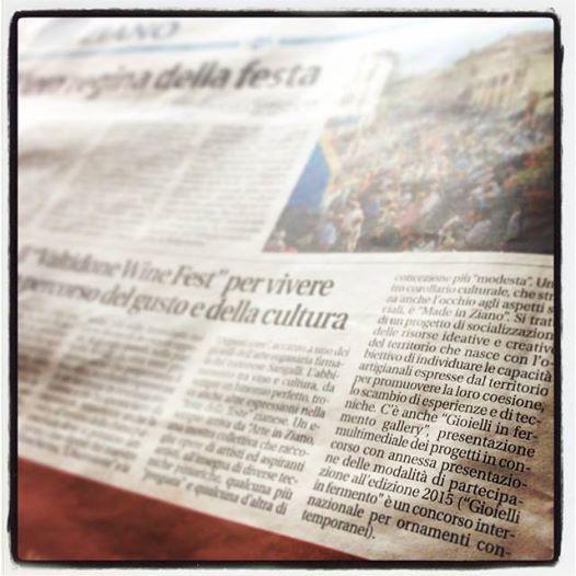 Libertà, quotidiano di Piacenza, 13 sett 2014, ValTidone WineFest Ziano Piacentino