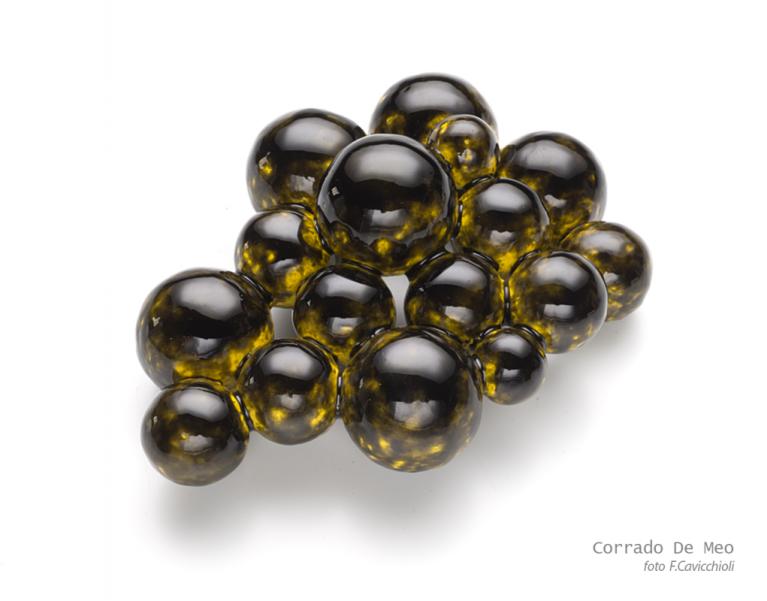 Corrado de Meo - I colori della notte, spilla e pendente, brooch/pendant - menzione speciale JOYA Gioielli in Fermento 2015