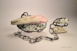 Stefi Goetze, Inside outside, double brooch - menzione speciale Klimt02 Gioielli in Fermento 2015