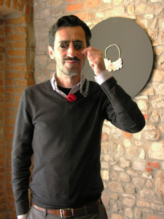 Leo Caballero of Klimt02 Gallery, wearing Euphoria, Torre Fornello, May 2014