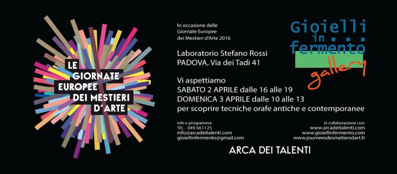 Giornate Europee dei Mestieri d'Arte - Padova 2016 - Gioielli in Fermento #gallery