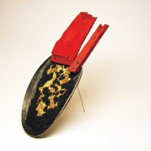 5_Susanna Baldacci, Il re del mondo, spilla, brooch, Menzione speciale Klimt02 Gioielli in Fermento 2016