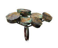 Gigi Mariani, Rusts ring, silver, niello, patina, oxidation, 2011, Gioielli in Fermento Master Collection, ph. Paolo Terzi