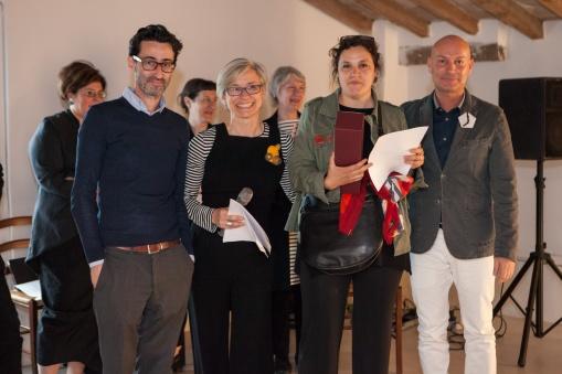 Gioielli in Fermento 2016 Award Ceremony with Leo Caballero (Klimt02) Eliana Negroni (Curator), Susanna Baldacci (Awarded Artist), Enrico Sgorbati (Torre Fornello)
