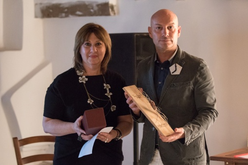 Gioielli in Fermento 2016 Award Ceremony with Liana Pattihis (Awarded Artist), Enrico Sgorbati (Torre Fornello)