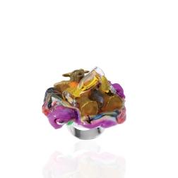 Barbara Uderzo, Italy, Blob-ring Champagne, 2016, Gioielli in Fermento selected artist