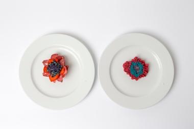 Il dessert ispirato alla spilla Sentori di Bacche Rosse di Maura Biamonti
