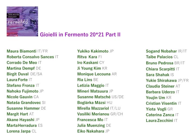 Artistlist2021 nomi 3 colonne